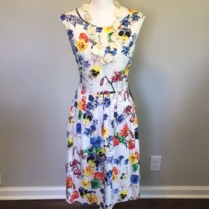 Ellen Tracy pansy dress 14